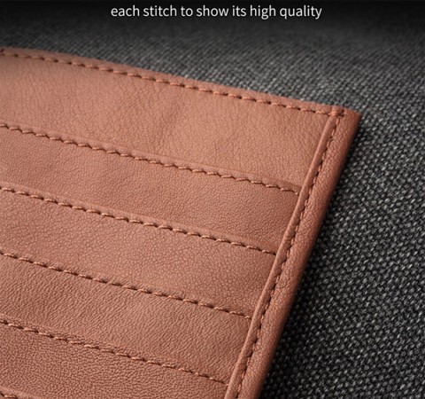 Универсальный чехол кошелек Qialino Leather Wallet Pouch Universal Phone Case для Apple iPhone, Samsung, Huawei, Meizu, Xiaomi Brown (Коричневый)