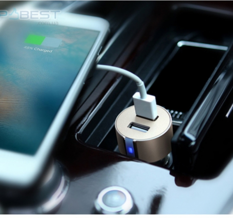 Автомобильная зарядка от прикуривателя Nillkin Vigor car charger Dual Port USB Car Charger для Samsung, Apple, Hyawei, Asus, HTC, Meizu Grey (Серый)