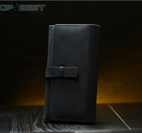 Универсальный чехол кошелек Remax Genuine Leather Phone Wallet Case для Apple iPhone, Samsung, Huawei, Meizu, Xiaomi Black (Черный)