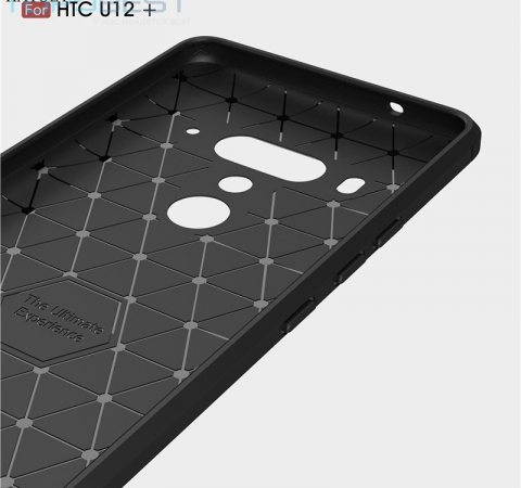 Чехол бампер Ipaky Carbon Fiber для HTC U12 Plus Blue (Синий)