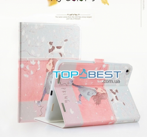 Чехол для Xiaomi MiPad 3 7.9 Fiesta Case Leather Series (Butterflies hunter) Охотник за бабочками