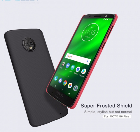 Чехол бампер Nillkin Super Frosted Shield для Motorola Moto G6 Plus Gold (Золотой)