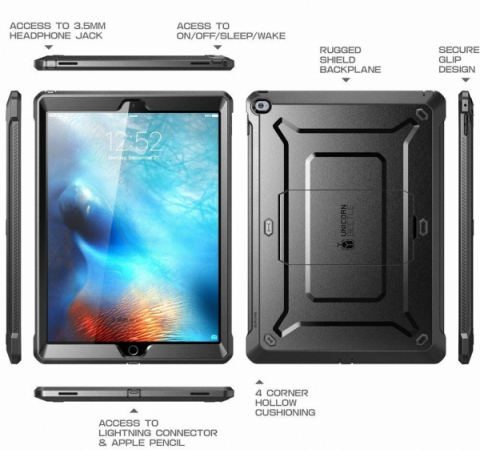 "Чехол для Apple iPad PRO 12.9"" 2015 Supcase Unicorn Beetle Pro Full Body Protective with built-in Screen BLACK"