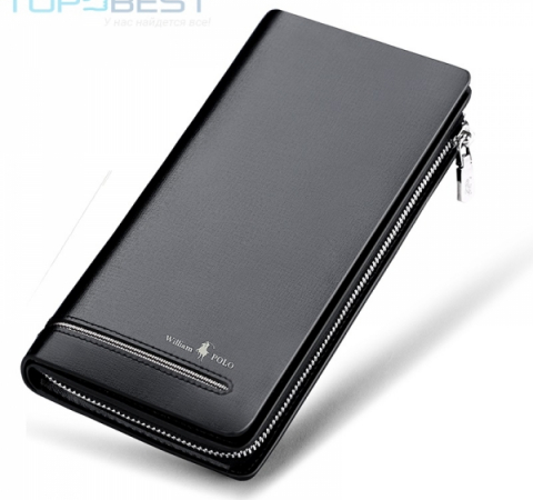 Универсальный чехол кошелек William Polo PL219 Casual Lonog Business Male Clutch Wallet Men Black (Черный)