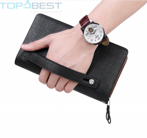 Универсальный  кошелек William Polo 238 Casual Long Business Male Wallet Men's Blue (Синий)